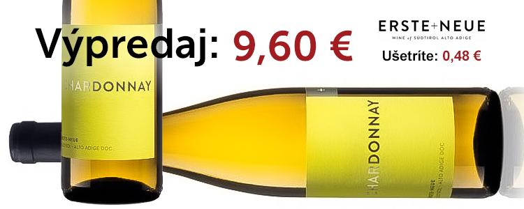 Chardonnay DOC 2019 - ERSTE + NEUE - 0,75 l - biele suché víno Chardonnay DOC 2019