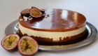 Maracuja mousse cheesecake